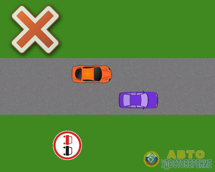Знак на дороге - Обгон запрещен