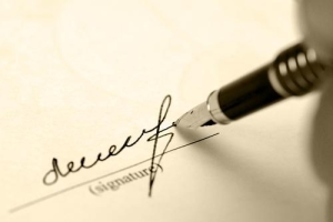 Подпись в протоколе