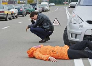 Наезд на человека в пределах пешеходного перехода