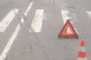 Аварийный треугольник на пешеходном переходе